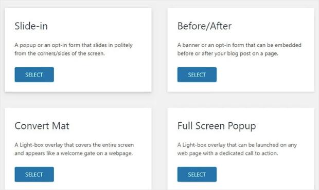 Convert Pro Campagin Types updated