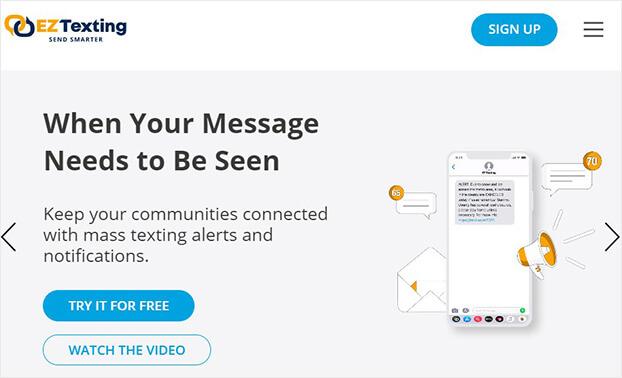 EZ Texting SMS marketing tool