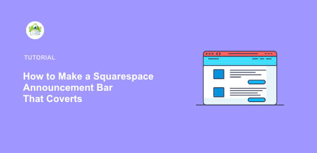 Featured image Squarespace announcement bar
