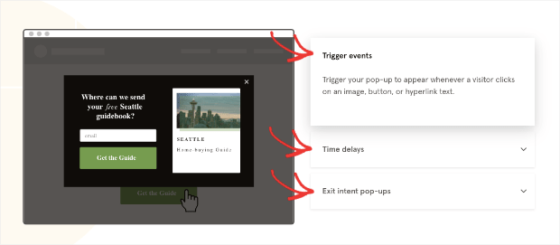 Leadpages popup triggers