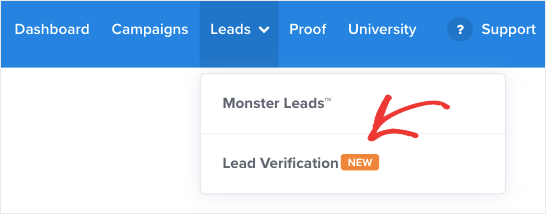 Sign up for lead verification