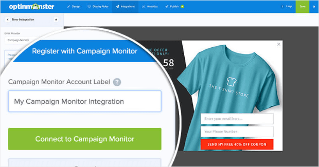 connect to campaign monitor