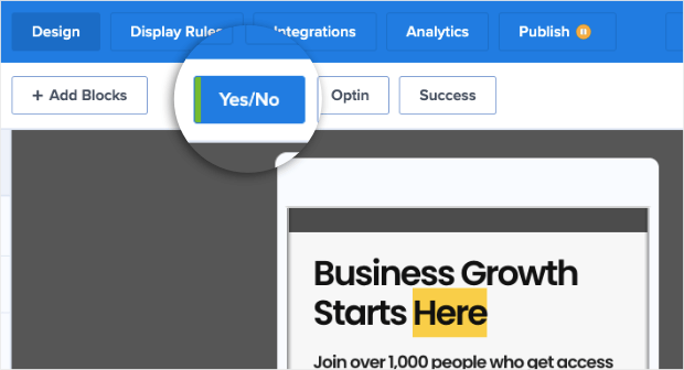 use Yes_No campaigns to increase mobile conversions