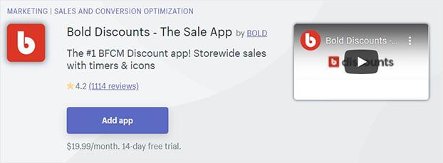 Bold Discounts shopify sale app_