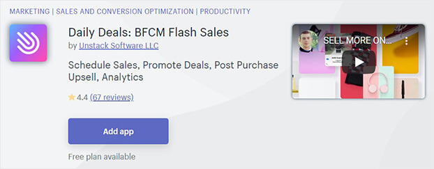Daily Deals shopify flash sale app