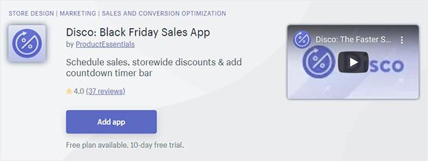 Disco Shopify Flash Sales App