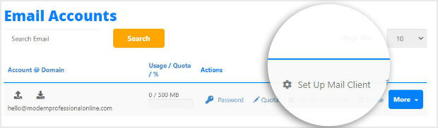 Email created in HostGator_