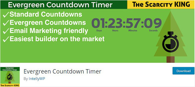 Evergreen countdown timer_