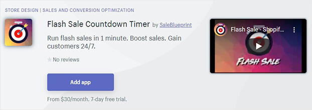 Flash Sale Countdown Timer