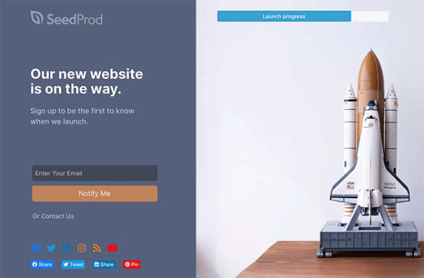 Landing page example by seedprod-min