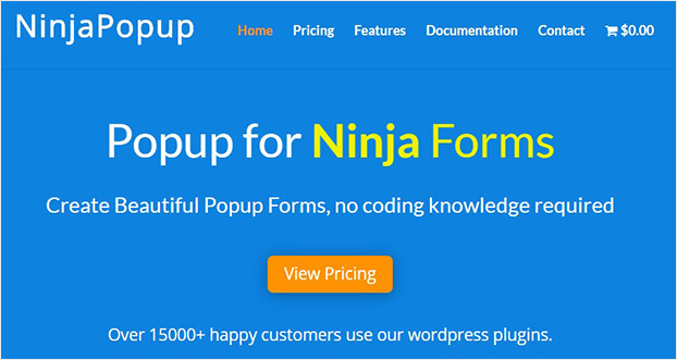 Ninja Popup list building plugin