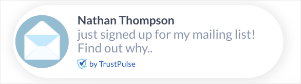 Shopify email marketing trustpulse notification
