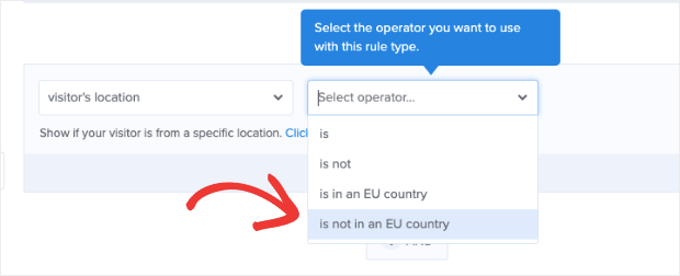 Show campaign to people who aren't in the EU