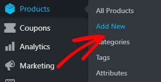 Add New WooCommerce product