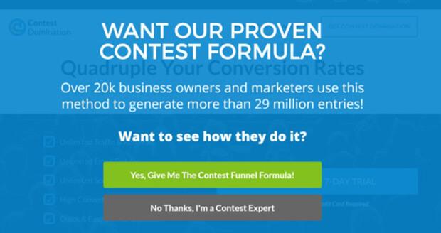 Contest Domination splash page