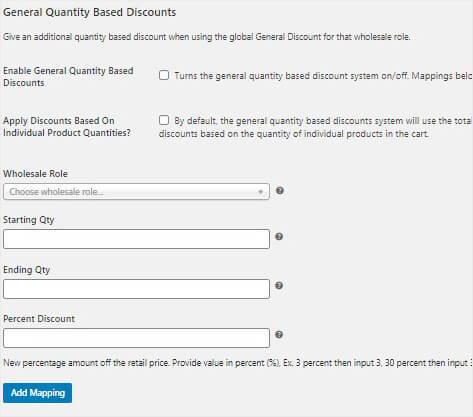 General Quantity Based Discounts_