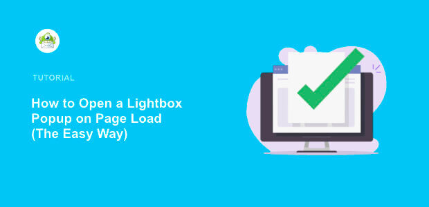 featured image how to create a lightbox popup on page load