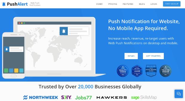pushalert push notifications