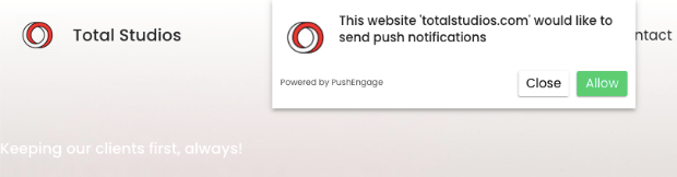 pushengage sample notification