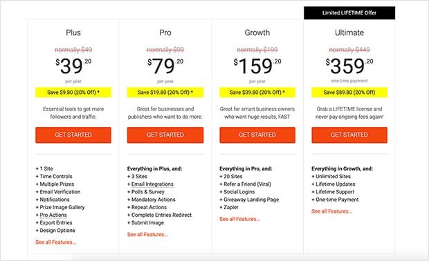 rafflepress-pricing