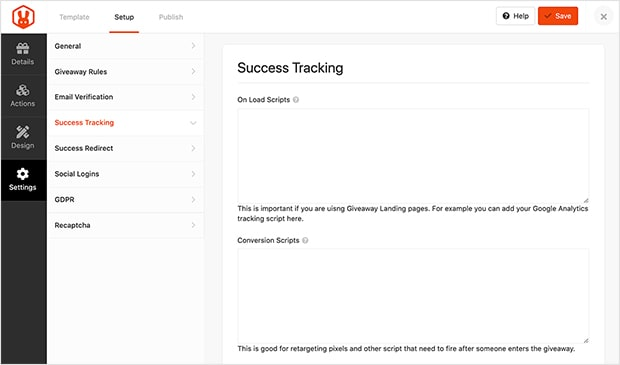 rafflepress-success-tracking