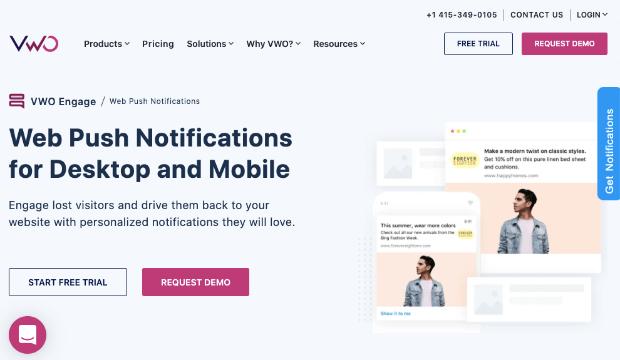 vmo engage push notifications