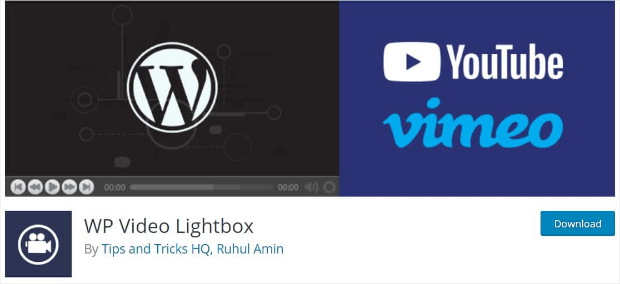 wordpress video lightbox