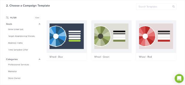 choose a discount wheel popup template