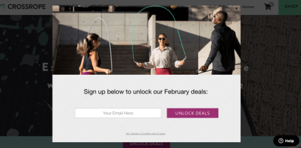 crossrope signup form example