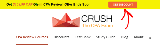 crush signup form floating bar example-min