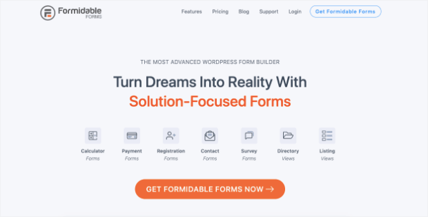 formidable forms homepage