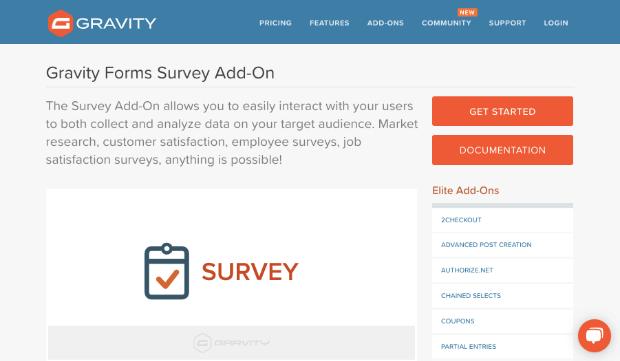 Gravity Forms survey