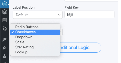 select checkboxes instead of radio buttons