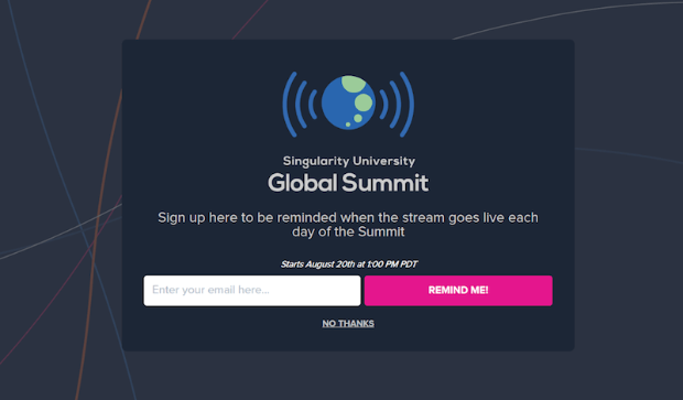 singularity signup form example