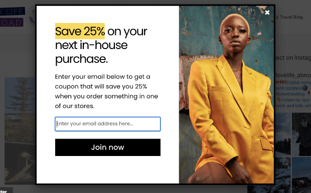 small business email marketing popup demo-min