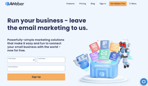 AWeber email service provider