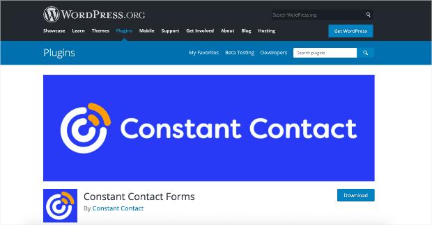 constant contact lead generation plugin