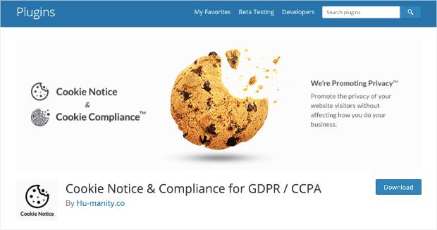 cookie notice gdpr compliant plugin