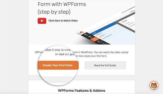 create your first form with wpforms