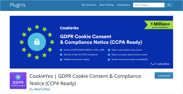 gdpr plugin cookie consent and compliance