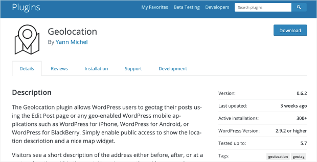 geolocation plugin for wordpress