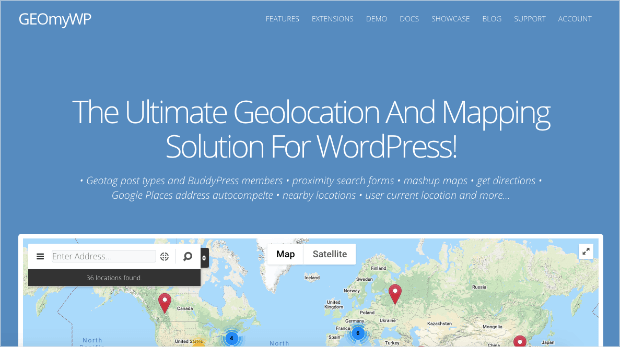 geomywp geolocation plugin