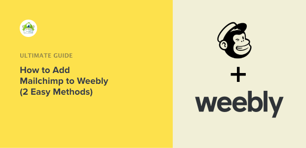 How to add Mailchimp in Weebly