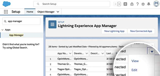 Salesforce View Connected App