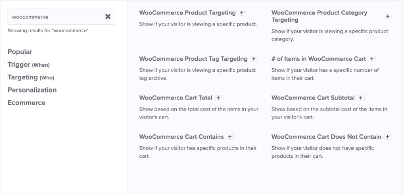 woocommerce advanced targeting rules
