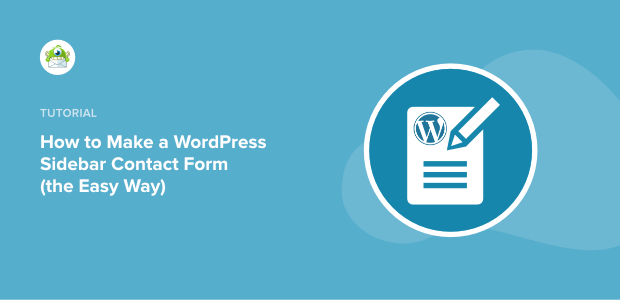 wordpress sidebar contact form featured image