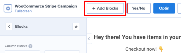 add block in om