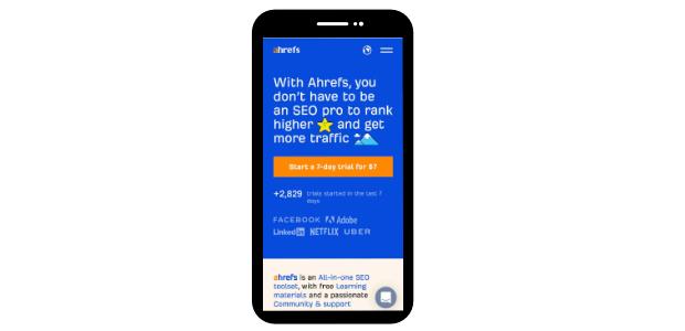 ahrefs display on mobile