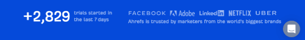 ahrefs social proof