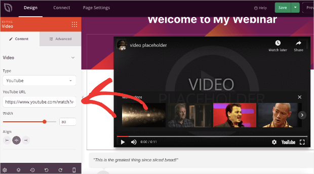 change the seedprod video placeholder
